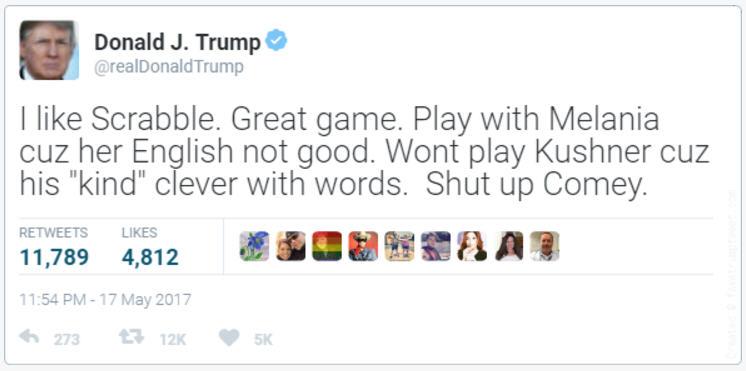 20170517 Trump tweet